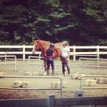 乗馬クラブクレインで体験乗馬 その3 (馬場~馬装解除)