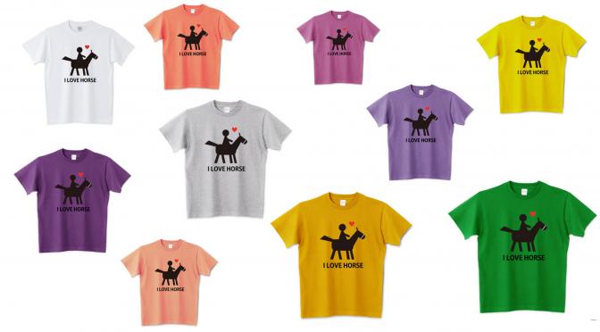 馬Tシャツ