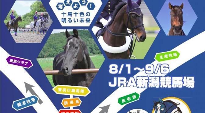 【速報】引退馬の余生を考えよう 企画展(8/1~9/6@JRA新潟競馬場)